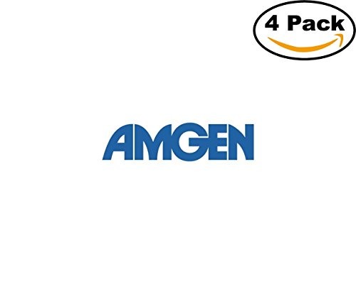 Amgen Logo 4 Stickers 4X4 Inches Car Bumper Window Sticker Decal