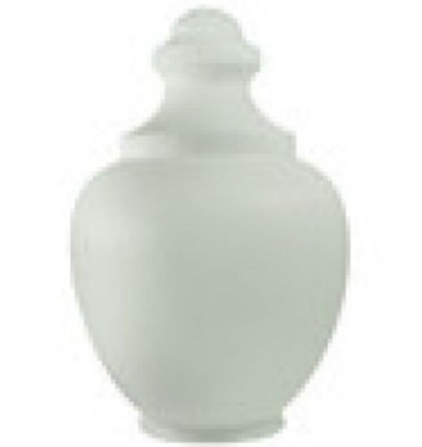 (22 Inch White Polyethylene Macho Acorn with a 7.75 Inch Solid Flange)