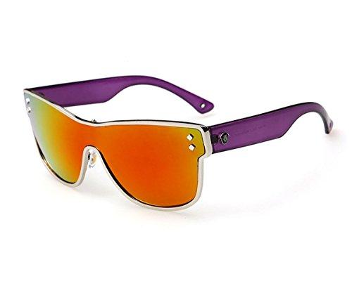 Heartisan Ratro Fashion Square One-piece Flash Mirror Sunglasses - Sunglasses Minutes 60
