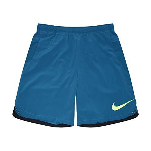 - Nike Men's Dri-Fit Flex Vent Max Training Shorts (Pale Blue/Volt, Medium)
