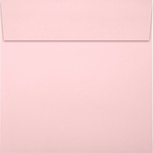 6 1/2 x 6 1/2 Square Envelopes - Candy Pink (50 Qty) | Perfect for Invitations, Announcements, Greeting Cards, Photos | EX8535-14-50 by LUXPaper