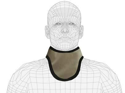 Standard Unattached Thyroid Collar, Regular Lead, 0.5mm Pb Lead Equivalency, Slate