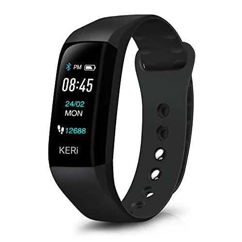 Audar KERi Activity Tracker met hartslagmeter, bloeddruk slaapmonitor, stappen, calorieteller, ondersteund, 13 talen…