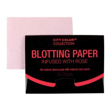(Pack of 24, 1200 Ct) City Color Rose Infused Blotting Paper Oil Absorbing Tissues Premium Handy Face Blotting Sheets
