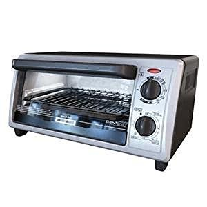 Black & Decker Toaster Oven/Broiler 4 Slice, 9 In. Pizza Stainless Steel Black