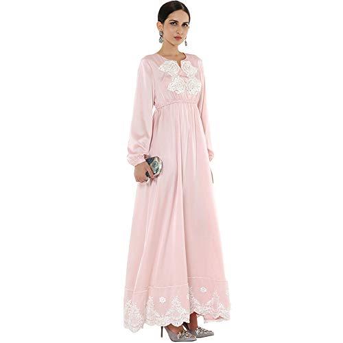 Delgado Diseño Musulmán Noche Recibir Cómodo De tamaño Elegante Mujer L Vestido Cintura Cvbndfe Lucha qnUFzgg