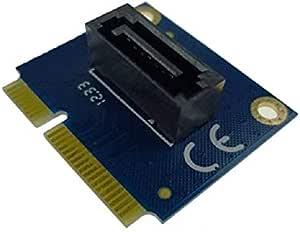 Zer one Horizontal mSATA to SATA Adapter Expansion Card 7-Pin SATA to mSATA Drive Converter Card