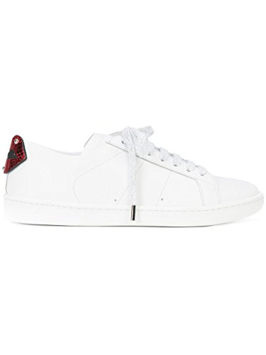 Pelle Bianco Donna Sneakers Saint 484928EXV606547 Laurent x4gIRI
