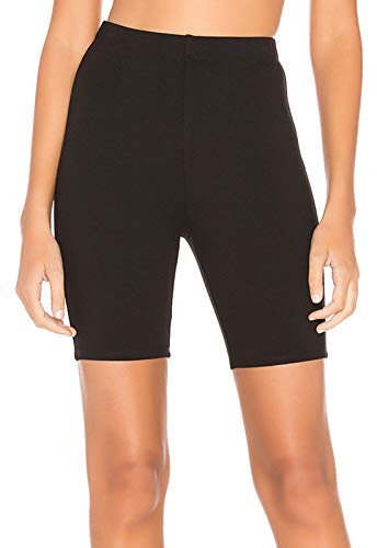 Jersey Running Tights - Tsher Women's Stretch Jersey Bike Yoga Running Workout Bermuda Shorts Tights Pants Leggings 0099 (XS, Black)