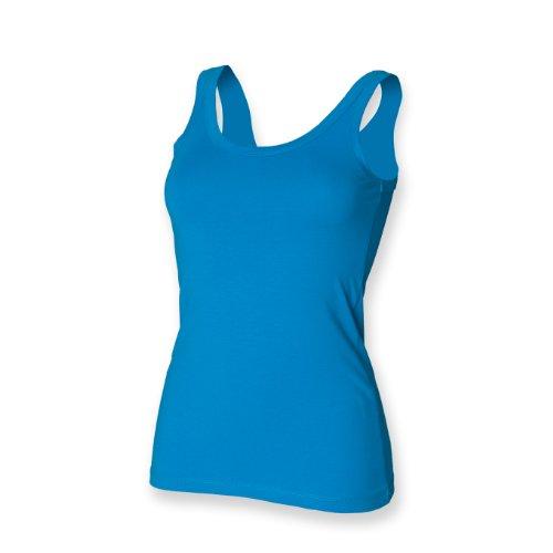 Skinni Fit Damen Stretch Tank Weste Sapphire Blau S