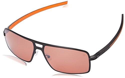 Tag Heuer Senna Racing 987 204 987204 Square Sunglasses, Black & Orange, 62 mm