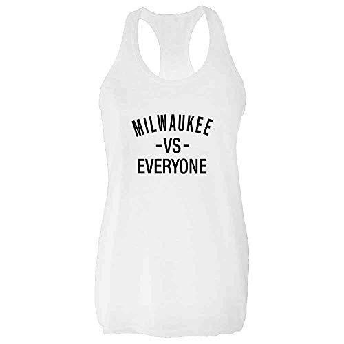 Milwaukee vs Everyone Sports Fan White M Womens Tank Top