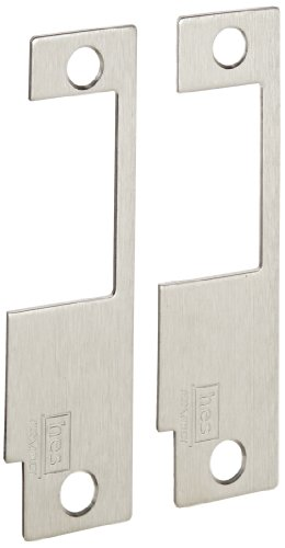HES Stainless Steel 852L Faceplate for 8500 Series Electric Strikes for Schlage Mortise Locksets, Satin Stainless Steel Finish (Electric Strike Keeper Stainless)