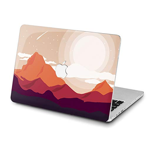 Lex Altern MacBook Pro 15 inch Case 2018 Air 13 11 12 Mountains Graphics Mac 2017 Retina Red A1990 A1707 Printed Cover Hard Apple Lightweight 2016 Laptop Protective Sun Kids Girly Art Women Shell -