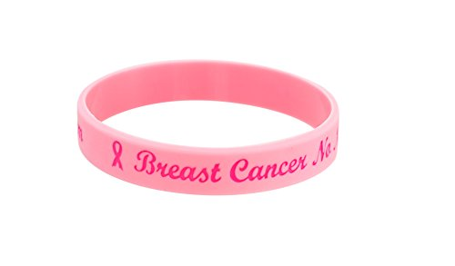 Breast Cancer Awareness Silicone Bracelet No Needle or Blood Pressure