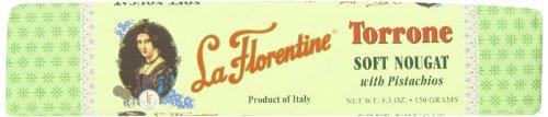La Florentine Soft Nougat Torrone Bar with Pistachio, 5.28 Ounce -