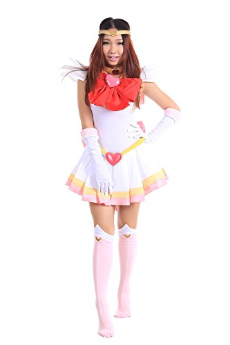 Chibiusa Sailor Moon Costume (SDWKIT Sailor Moon Super S Sailor Chibi Moon Tsukino Chibiusa Uniform Set)