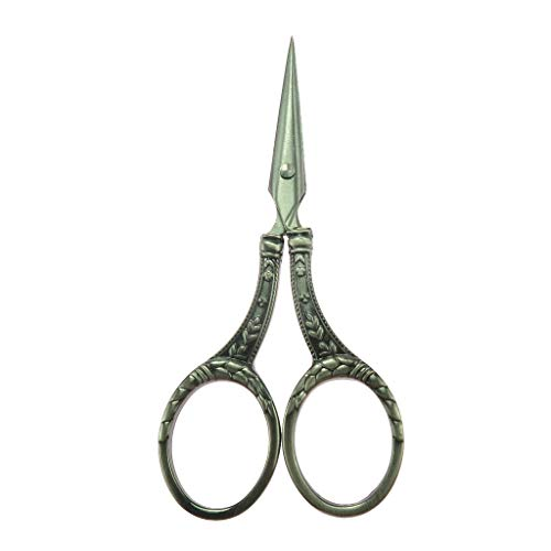 Vintage European Stainless Steel Wheat Scissor for Embroidery Sewing Silver