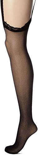 Leg Avenue Women's Sheer Back Seam Garter Belt Stocking, Black, Plus Size - Leg Avenue Garter Stockings