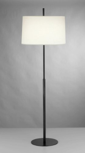 Robert Abbey Z2171 Lamps with Fondine Fabric Shades, Deep Patina Bronze Finish, 63.75