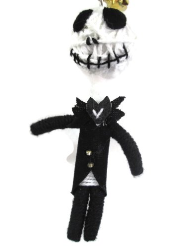 Jack Skellington Nightmare Before Christmas Voodoo String Doll Keychain