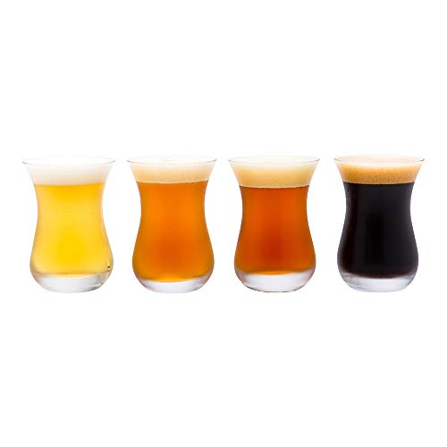 5 oz Beer Tasting Glass - 2 1/2' x 2 1/2' x 3 3/4' - 6 count box - Restaurantware
