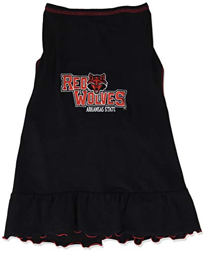 (NCAA Arkansas State Red Wolves Cheerleader Dog Dress, Tiny)