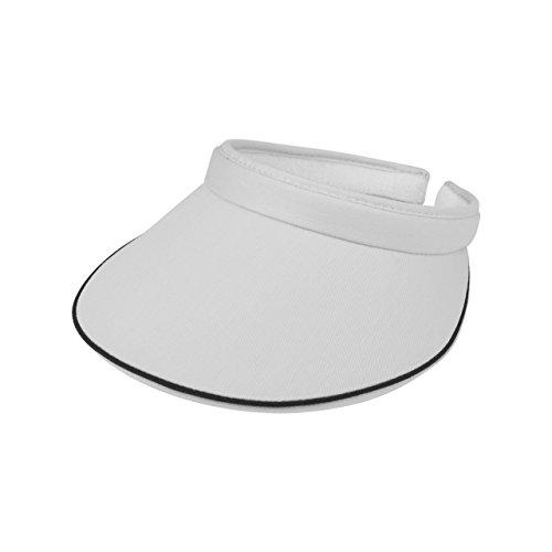 Cotton Twill Visor - MG Women's Cotton Twill Clip-On Visor-4115-WHITE