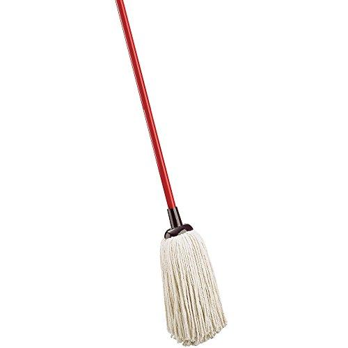 Libman Commercial 977 Cotton Deck Mop, Cotton Blend, 16 oz. mop Head, Red Handle (Pack of ()