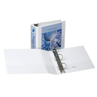 View Binder, Nonstick, 3 In, White by Samsill