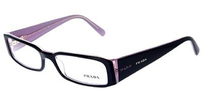Prada PR10FV Eyeglasses-3AX/1O1 Black/Lite Lavender-53mm by Prada