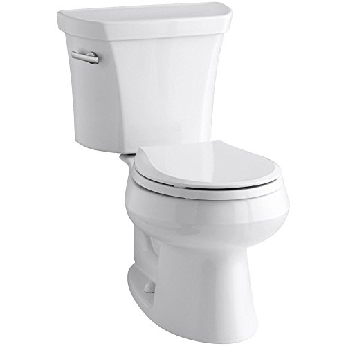 worth Round-Front 1.28 gpf Toilet, White (Wellworth Two Piece Toilet)