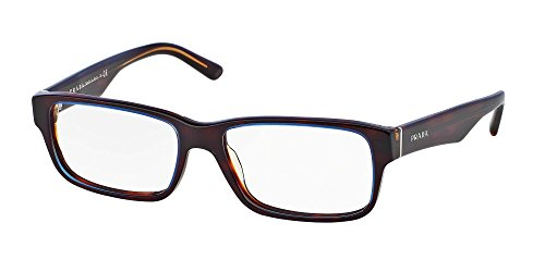 (Eyeglasses Prada PR 16MV ZXH1O1 TORTOISE DENIM DEMO LENS 55mm)