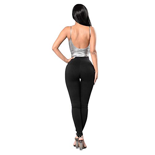 Di Chinosi Pantaloni Nero elastico Chic Skinny Micro Strada Donna Medie Nbe Black 195 semplice 5wX1qFX