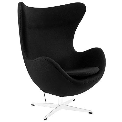 Egg Chair Jacobsen.Arne Jacobsen Egg Chair Black