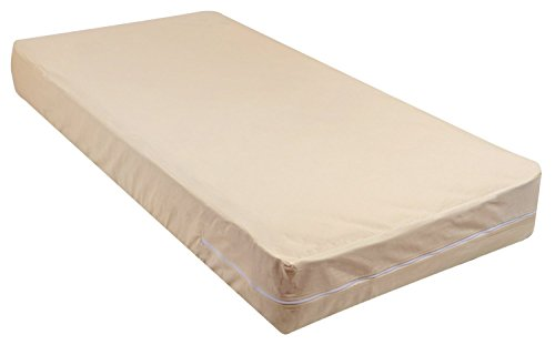 - Gilbins 100% Cotton Fleetwood Mattress Cover, Zips around the mattress, Cot Size