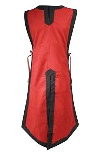 Jacobite Waistcoat - LETSQK Men's Medieval Halloween Costume Sleeveless Victorian Waistcoats Vests Red L