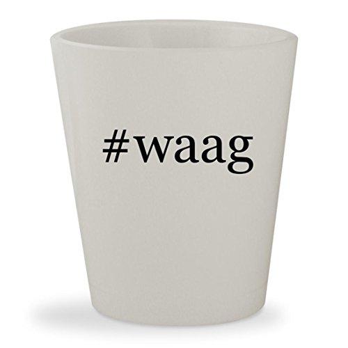 #waag - White Hashtag Ceramic 1.5oz Shot (04 Waag Grille Guard)