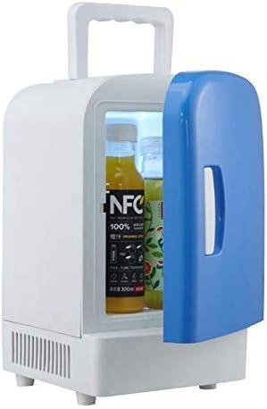 ZWH-ZWH 4Lカー冷蔵庫ポータブル暖房とデュアルユースセミコンダクターミニDC12V小型冷蔵庫、青+白の冷却 車載用冷蔵庫