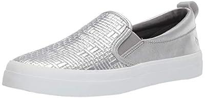 SPERRY Women's Crest Slip on Woven Emboss Sneaker
