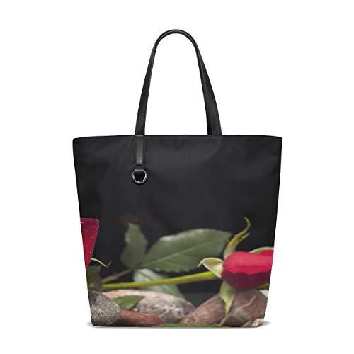 Women Rose Love Flower Nature Macro Beautiful Handle Satchel Handbags Shoulder Bag Tote Purse Messenger Bags