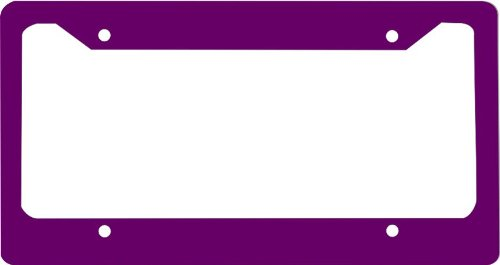 Amazon.com: Purple novelty License Plate Frame For Car License Plate ...