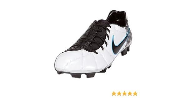 8ca1b4d85fe8 Amazon.com | Nike Mens Soccer Cleats TOTAL90 LASER ELITE FG White / Black /  Chlorine Blue SZ 8.5 | Soccer