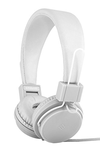 Polaroid PHP8500WH Headphones Microphone Tangle Proof