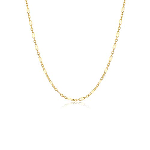 Gold Chain Choker Necklace,14K Gold Filled Dainty Cute Lip Clavicle Chain Long Necklace Delicate Fashion Choker Necklace Jewelry Gift for - Bead Necklace Chain Link