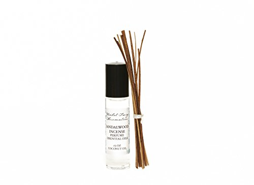 Organic Sandalwood Incense Oil - Men's Rollerball Oil - Nag Champa Incense - Essential Oil Perfume - Women's Perfume - Cologne for Men by Violet Twig Aromatics