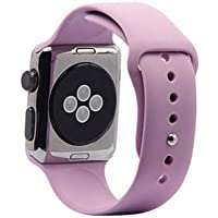 Apple Watch için 38-40 Mm Lila Silikon Kordon Markacase (40 mm)