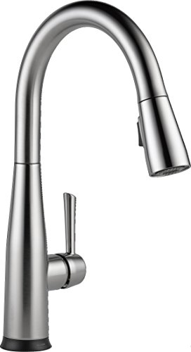 Delta Faucet Essa Single-Handle Touch Kitchen Sink Faucet with Pull Down Sprayer, Touch2O Technology and Magnetic Docking Spray Head, Arctic Stainless ()