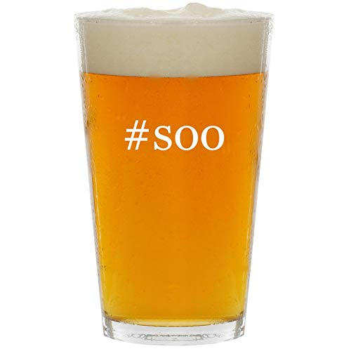 #soo - Glass Hashtag 16oz Beer Pint