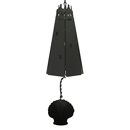 North Country Wind Bells Guardian LighthouseTM with Black Scallop Multi Tones - 5 Sided